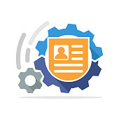 Vector icon illustration with the concept of registration mechanism process