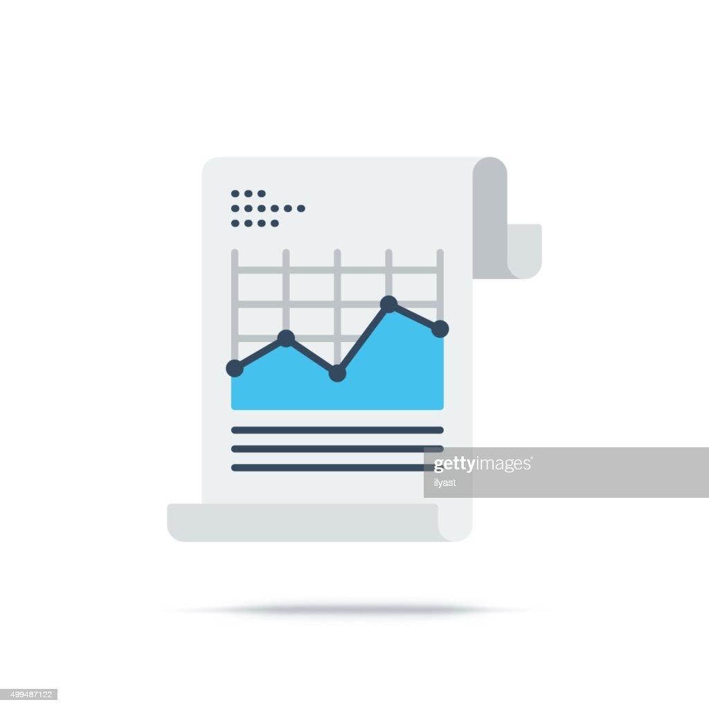 Vector Icon of Analytics Chart