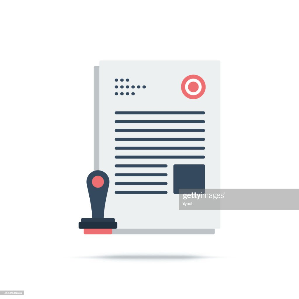 Vector Icon of Approved : stock illustration