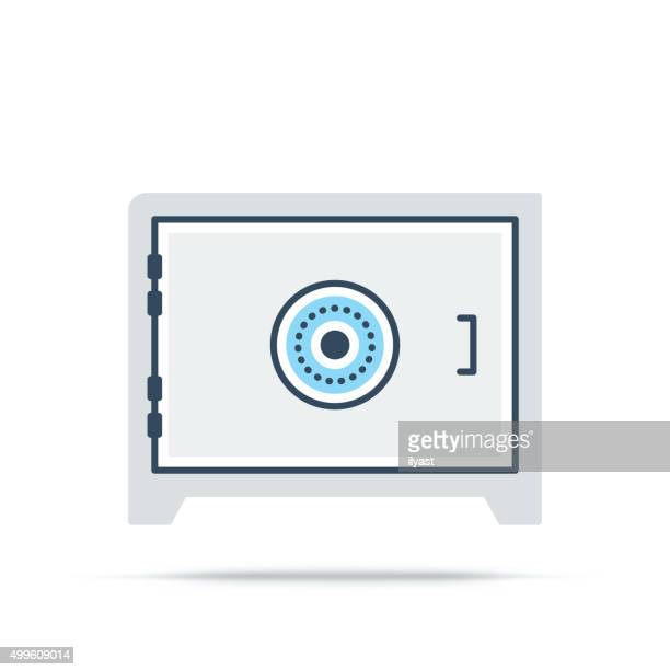 Vector Icon of Bank Safe
