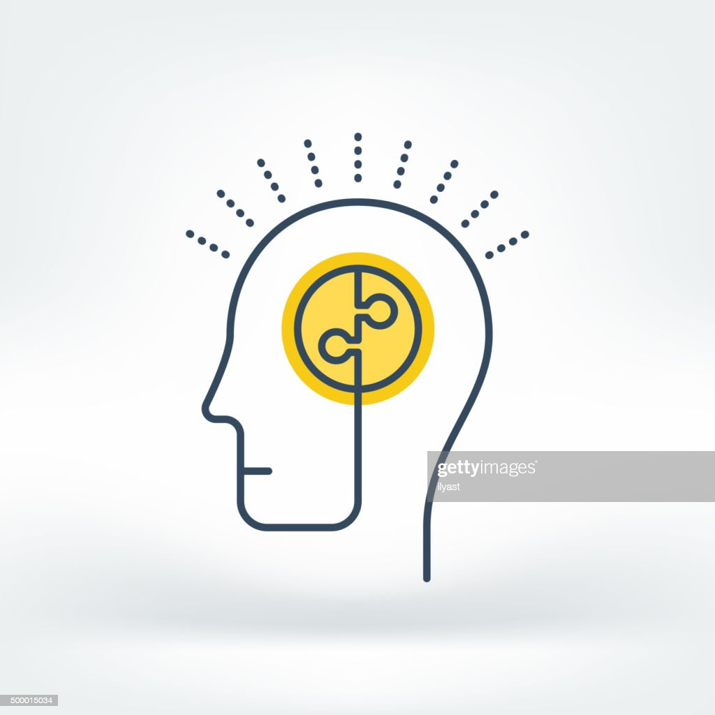 Vector Icon of Brainstorming