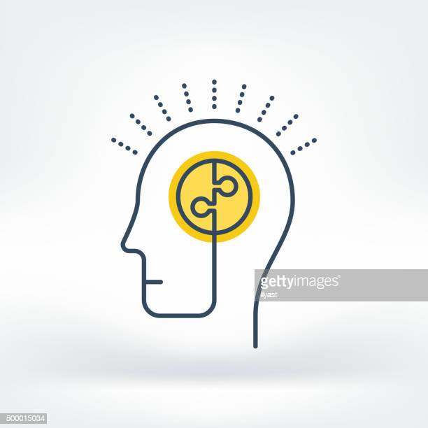 vector icon of brainstorming - contemplation stock illustrations, clip art, cartoons, & icons