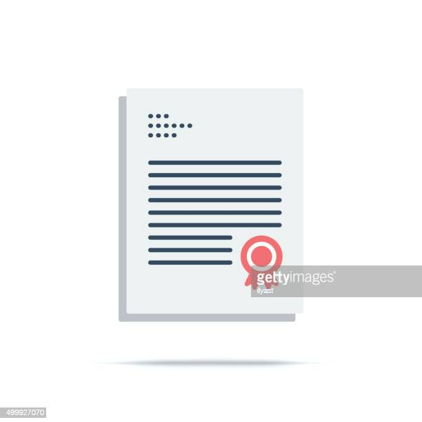 vector icon of charter - legal document stock illustrations, clip art, cartoons, & icons