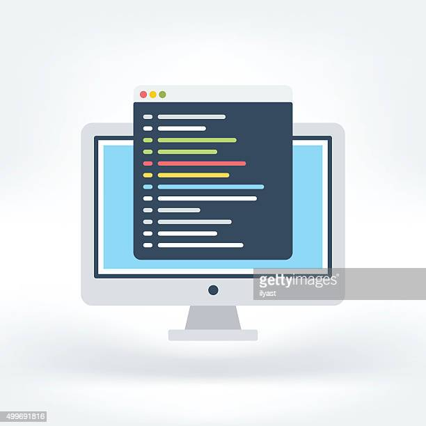 Vector Icon of Code Editor