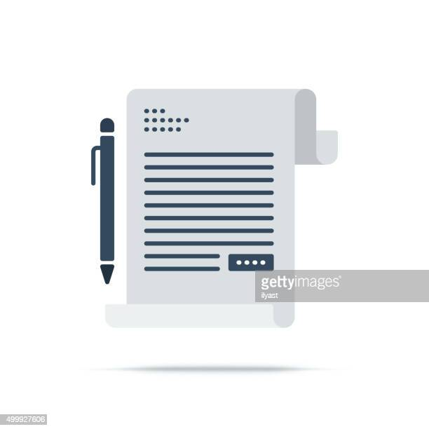 Vector Icon of Contract Sign