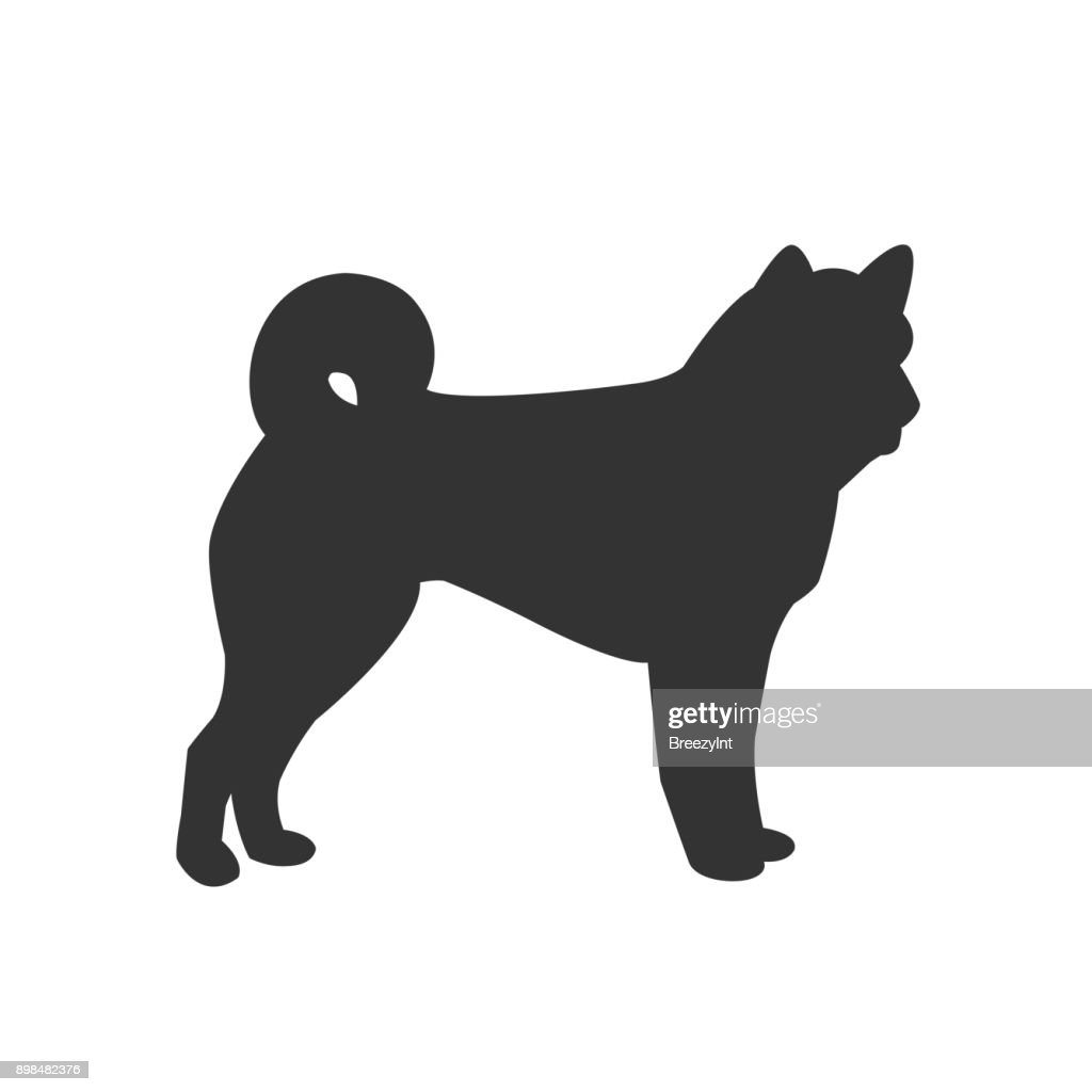Vector Icon of Dog Isolated on White Background