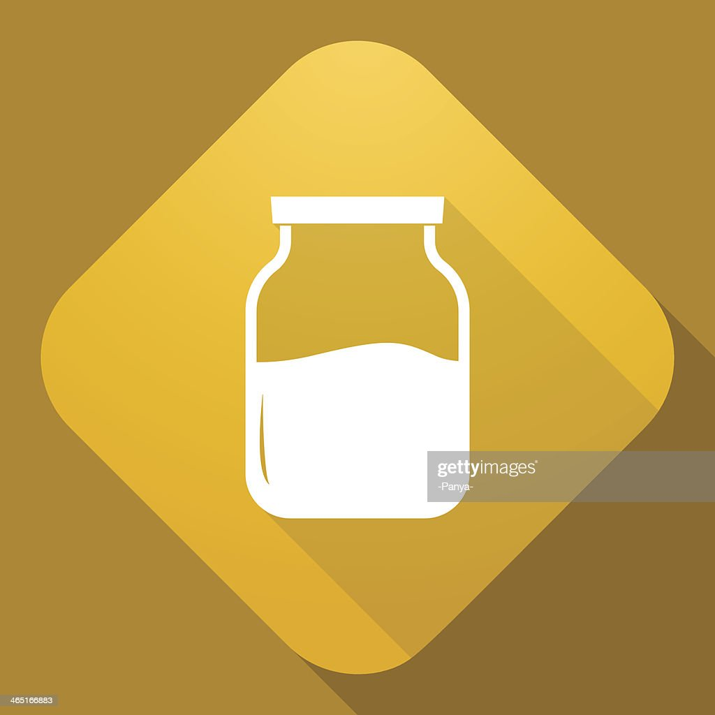Vector icon of Jar with a long shadow