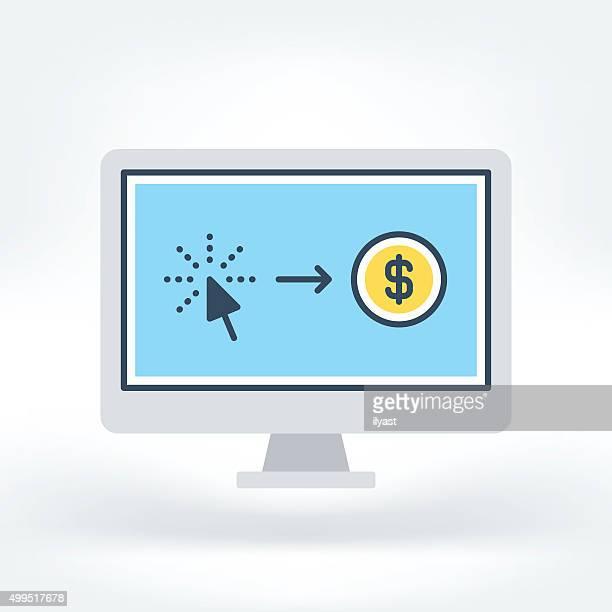Vector Icon of Pay Per Click Icon