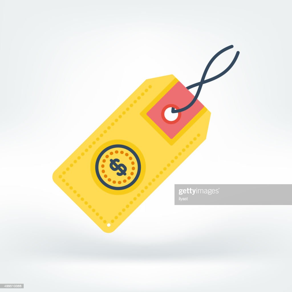 Vector Icon of Price Tag : stock illustration
