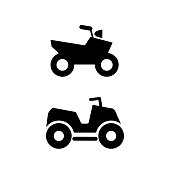 vector icon of quad offroad