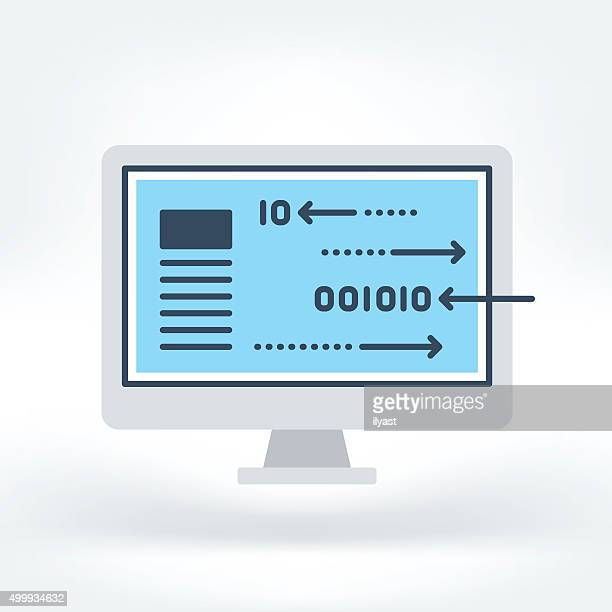 vector icon of research and development - html stock illustrations, clip art, cartoons, & icons