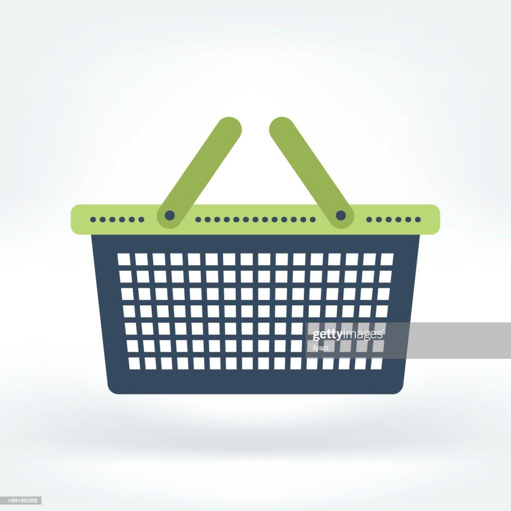 Vector Icon of Shopping Basket : stock illustration