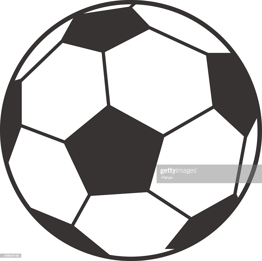 Vector icon of soccer, football ball