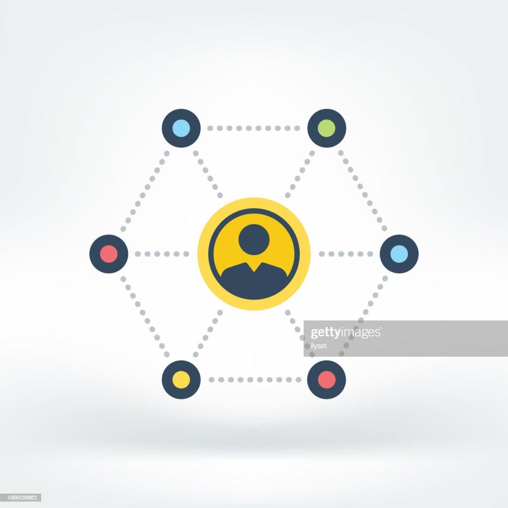 Vector Icon of Social Network