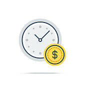 Vector Icon of Time Management