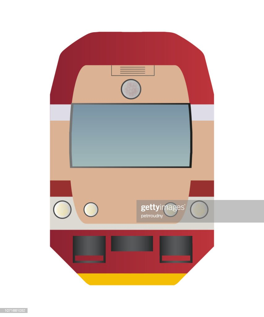 Vector icon of train or locomotive - front view