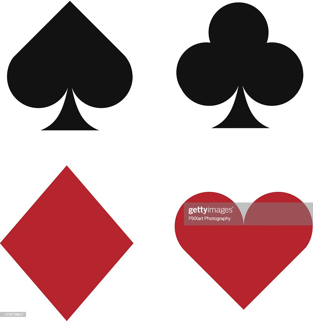 Vector icon set of playing card suits