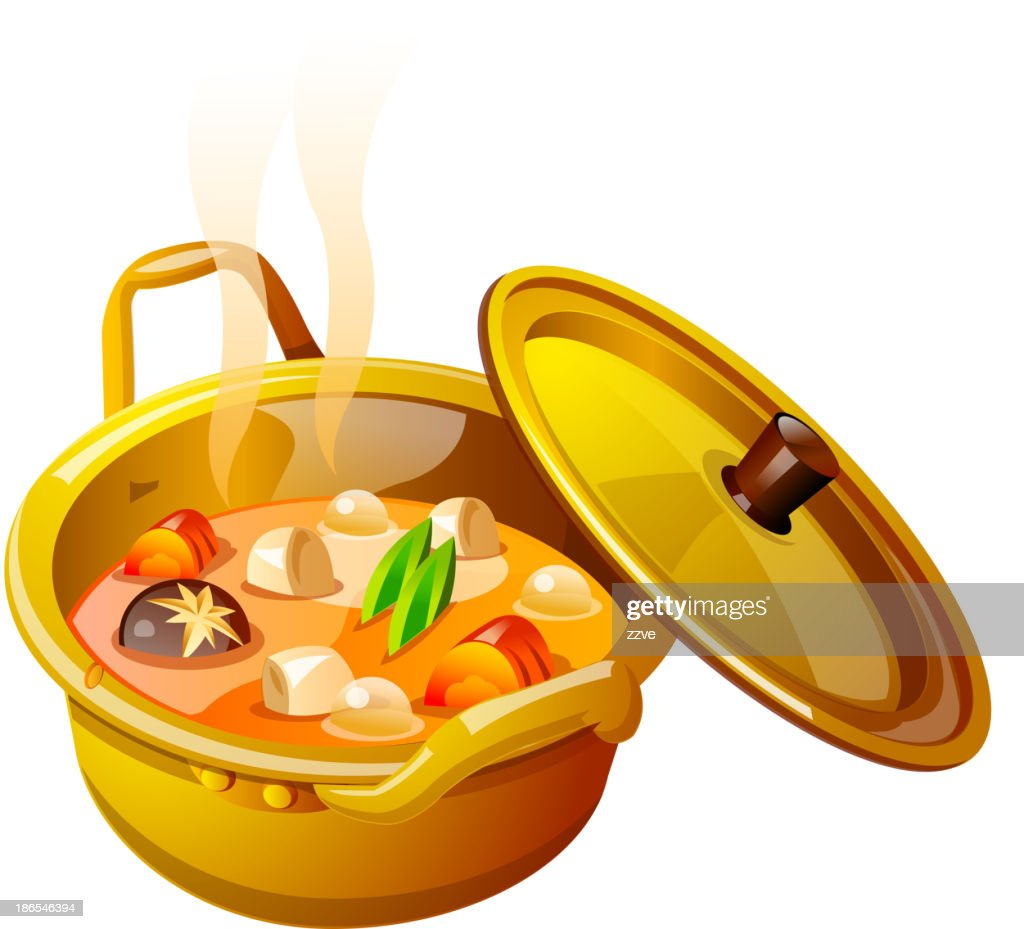 vector icon soup in the pot