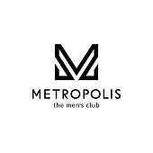 Vector icon template for men's club. Letter m in the form of a bow tie. Men sign