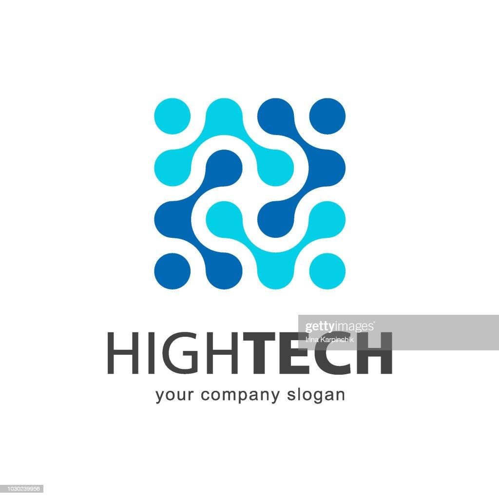 Vector icon template. High technology. Nano technology