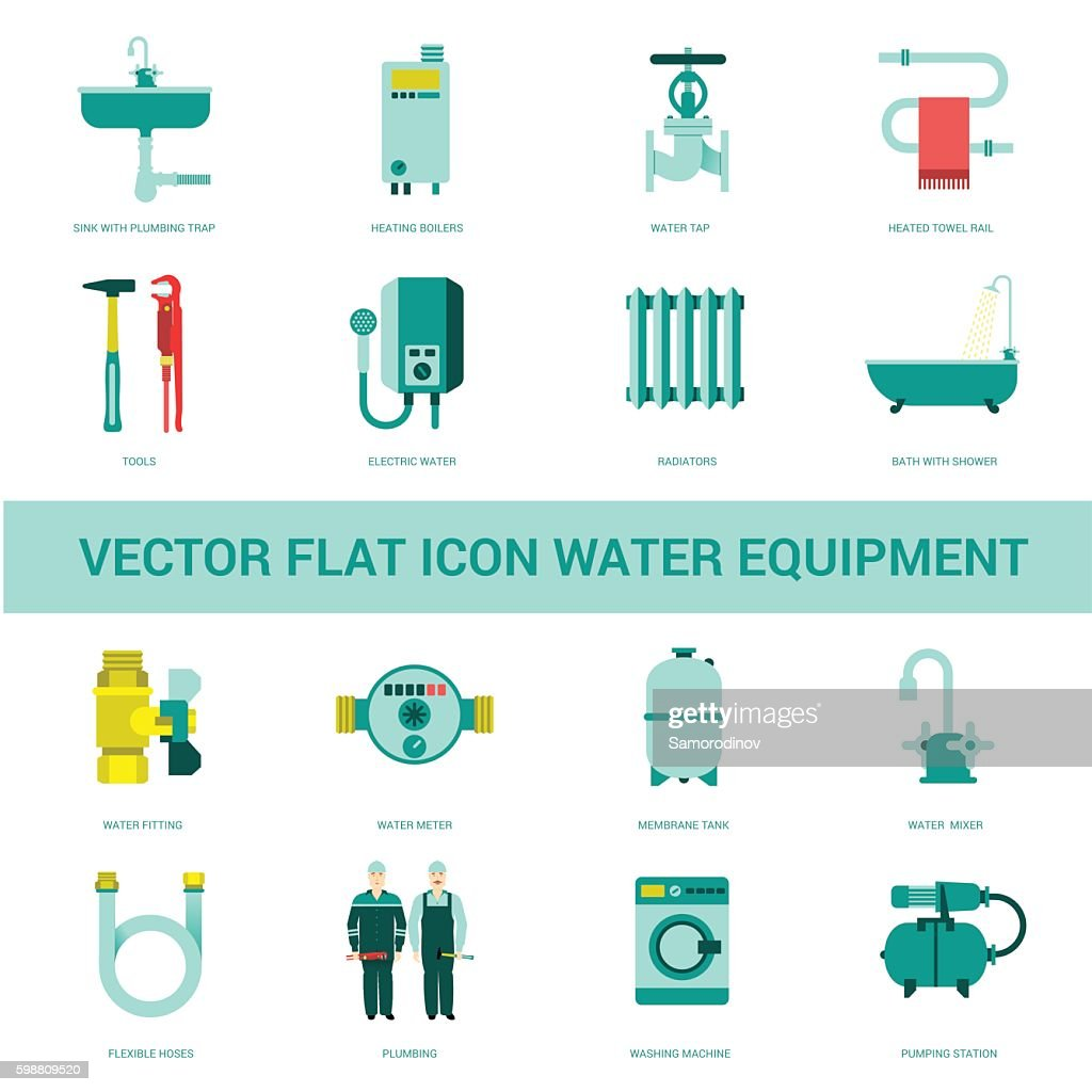 vector icon water equipment