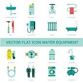 vector icon water equipment