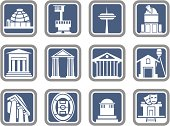 Vector Icons: Buildings