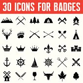 Vector Icons for Badges and Different Design Works