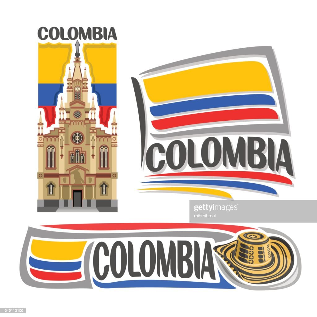 Vector icons for Colombia