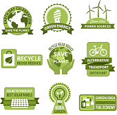 Vector icons for Earth Day and Save Planet Nature
