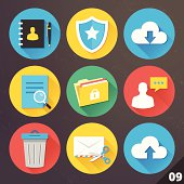 Vector Icons for Web and Mobile Applications. Set 9.