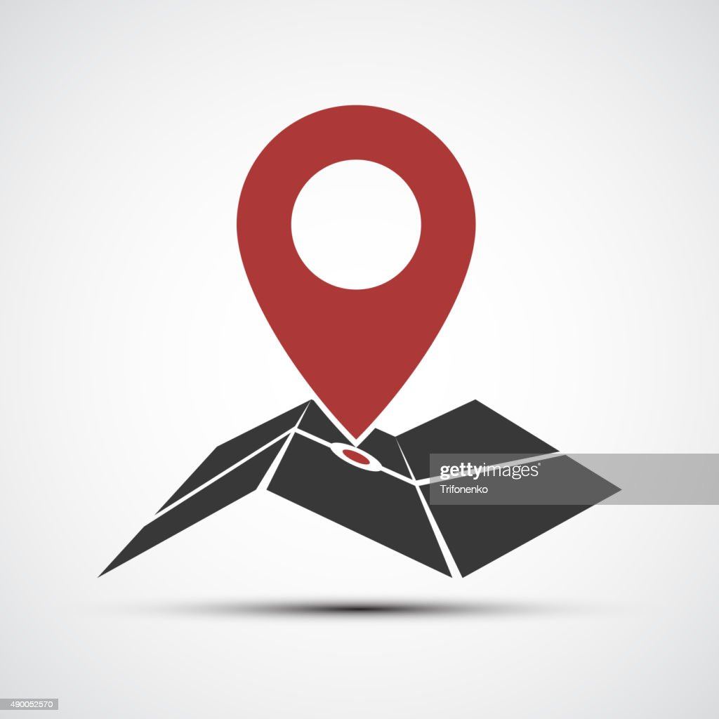 Vector icons map