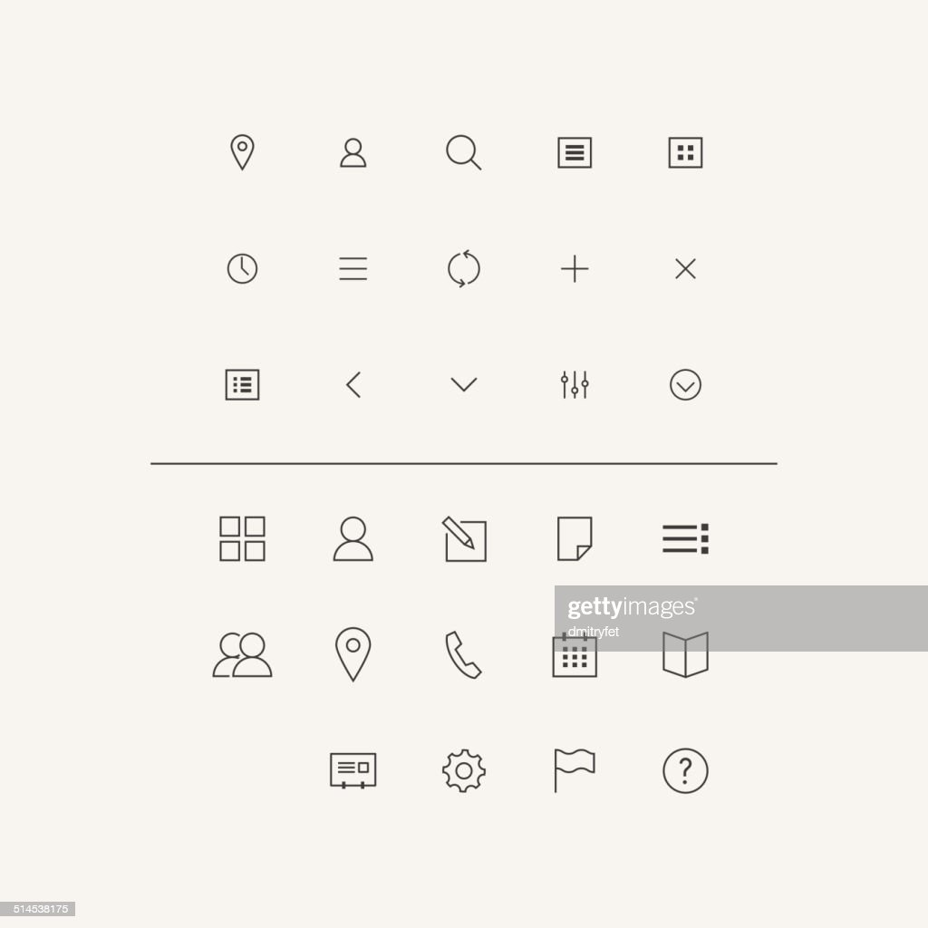 Vector Icons Set in Flat Style