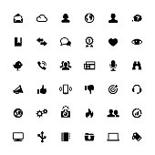 Vector icons set - Internet and Media