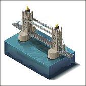 Vector icons set.Bridge over the river,design, unit structure