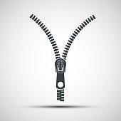 Vector icons zipper