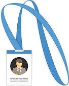 Vector id card.