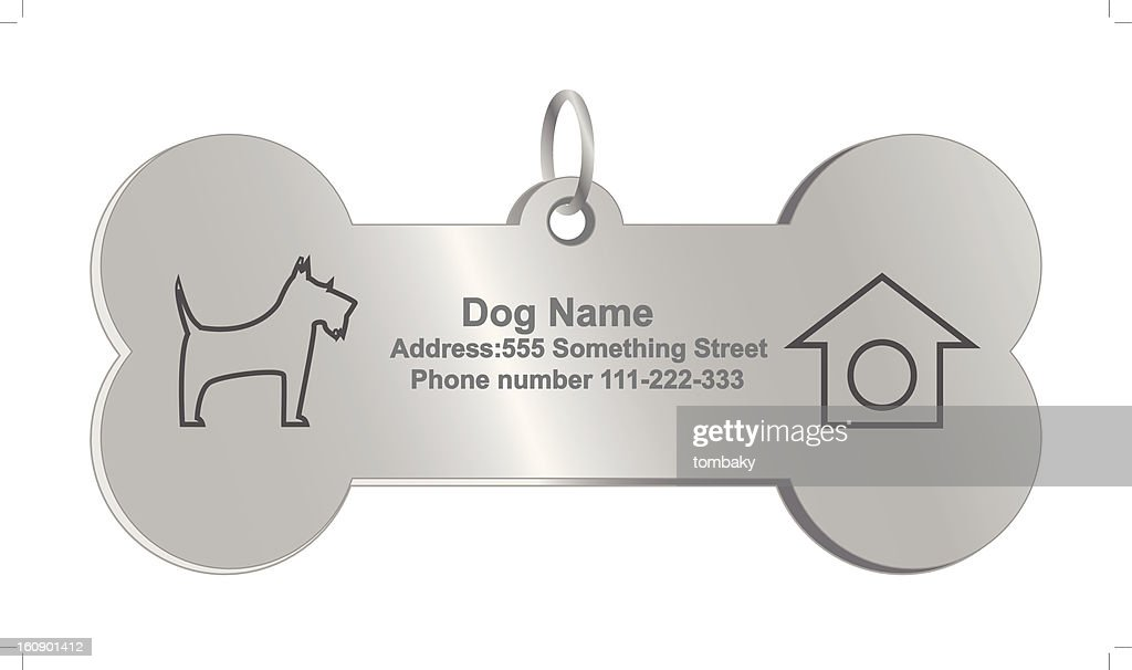Vector identity tags for dog