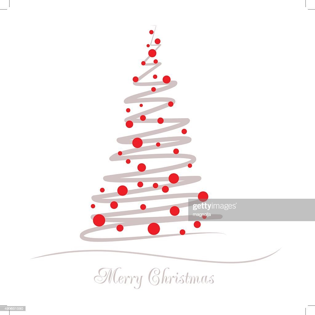 Vector illustration abstract Christmas Tree