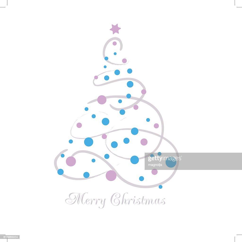 Vector illustration abstract Christmas Tree : Vector Art