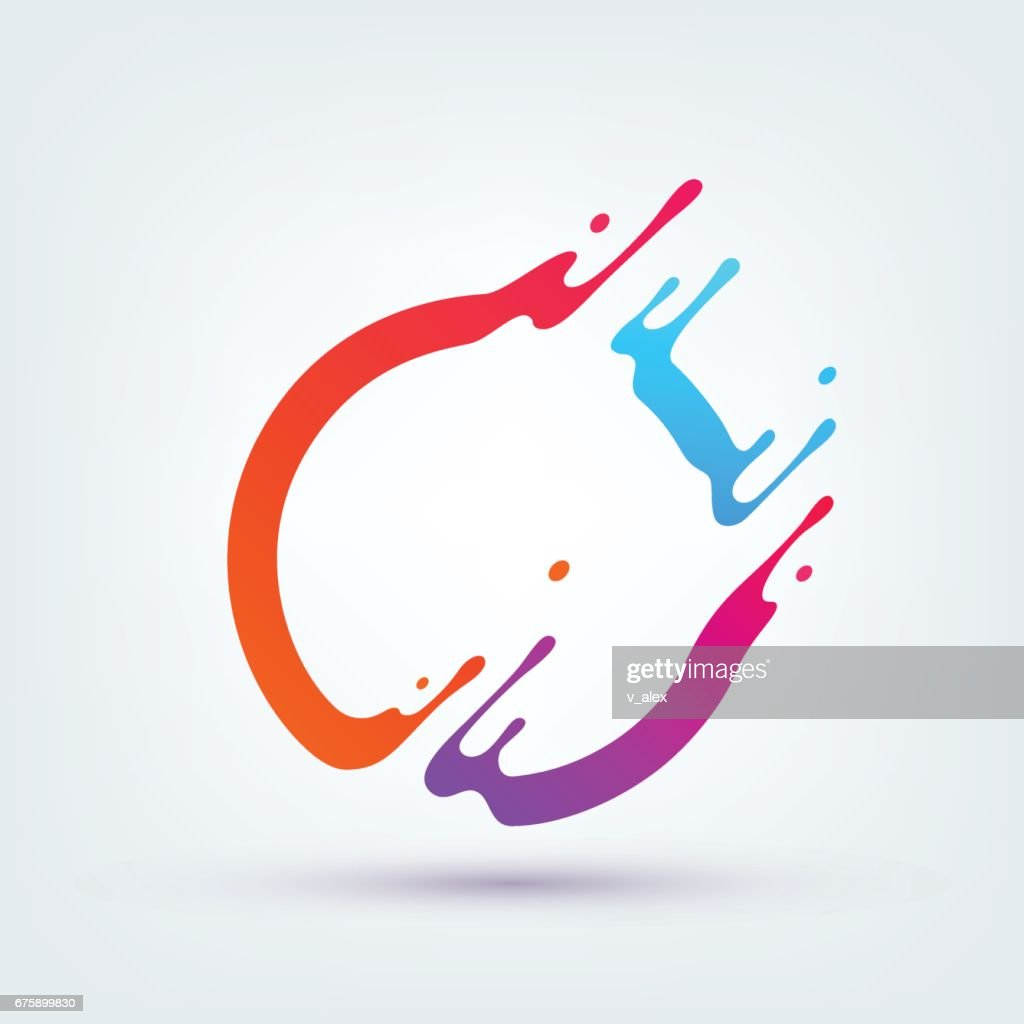 Vector Illustration. Abstract Colorful Circle