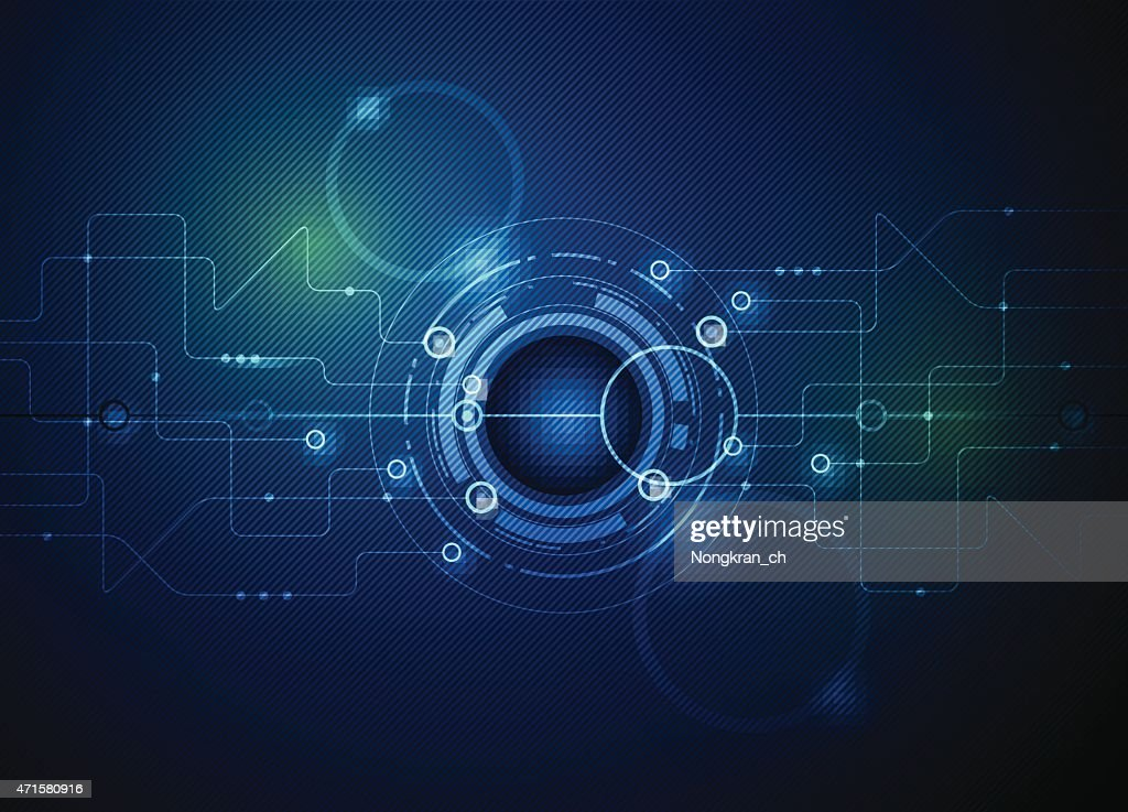 Vector illustration Abstract futuristic circuit board