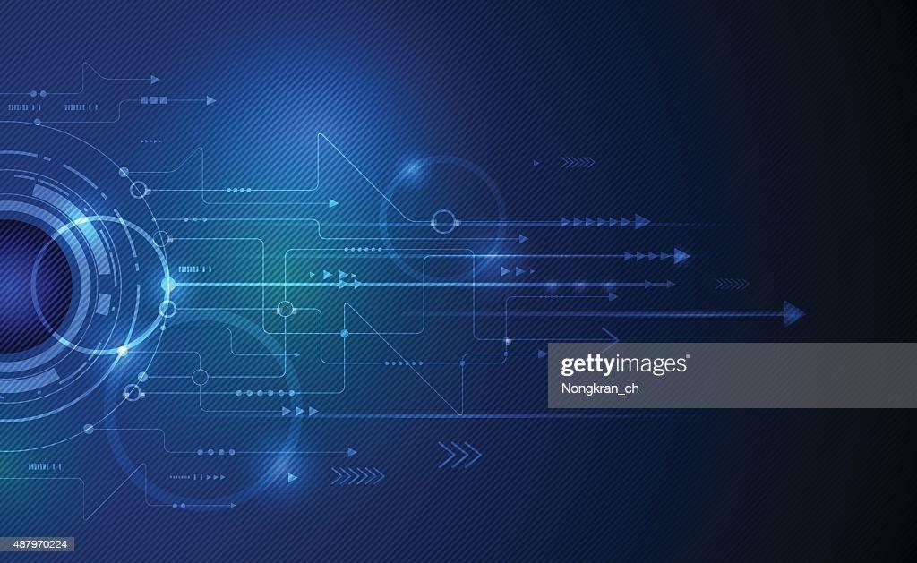 Vector illustration Abstract futuristic eyeball on circuit board