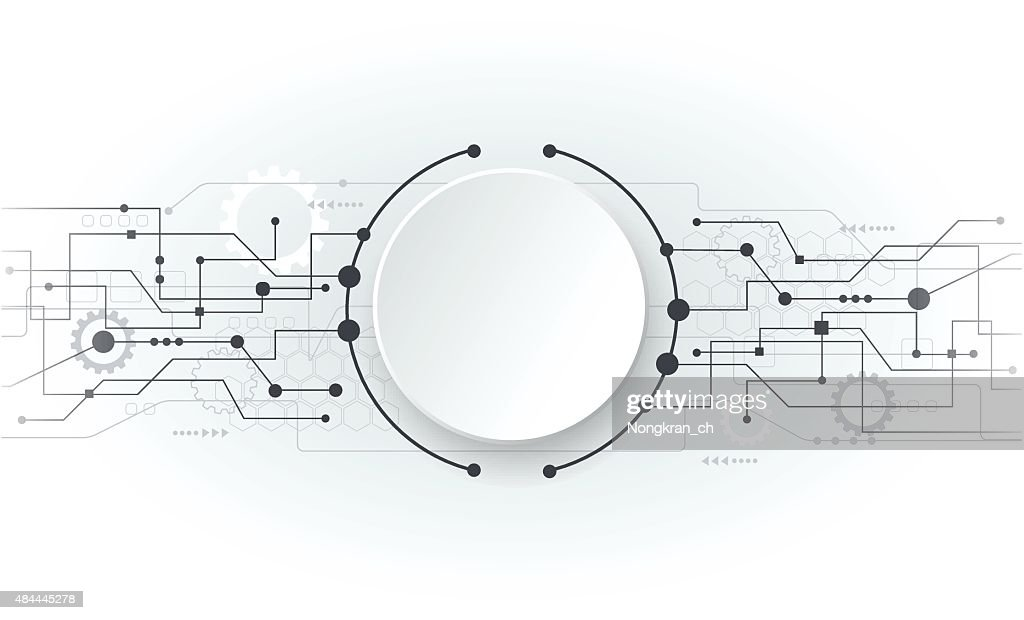 Vector illustration Abstract futuristic white circuit board