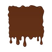Vector illustration - brown splash liquid.