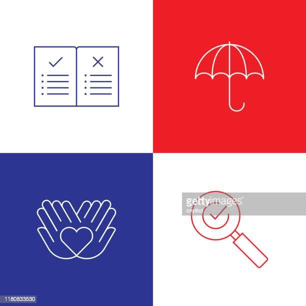 illustrations, cliparts, dessins animés et icônes de vector illustration business ethics related thin line icônes. avc vector editable. - homme soumis