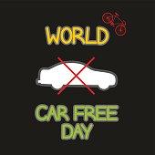vector illustration Car Free Day