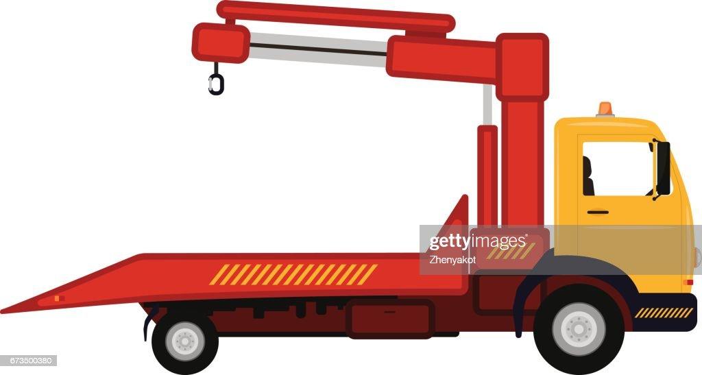 Vector illustration cartoon car tow truck