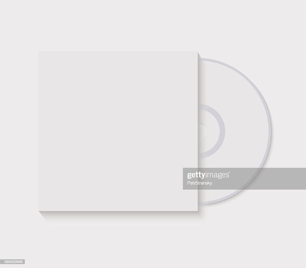 Vector illustration CD with blank cover template