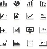 Vector illustration charts and graph icons